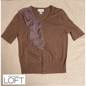 Ann Taylor Loft short sleeve sweater women's small
